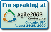 I'm speaking at Agile 2009