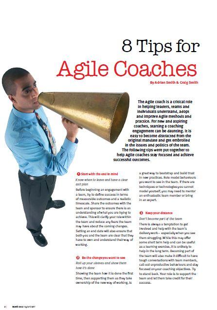 8 Tips For Agile Coaches (AgileTODAY) | Craig Smith